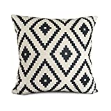 ourbest Geometrie Baumwolle Leinen dekorativer Überwurf-Kissenbezug Kissen