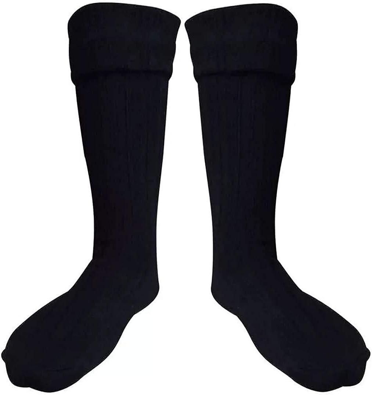 SCOTTISH BLACK KILT HOSE SOCKS FOR MEN SIZE M L XL 2XL