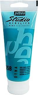Pebeo - Acrylic Fine Studio Acrylics - Iridescent Green Blue - Iridescent Green Blue 100ml/3.38oz