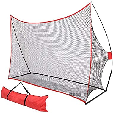 BOERLKY Practical 10'7' Golf Training Net Red 3-7 Days Delivery