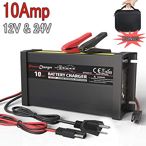 LST Truck Battery Charger Maintainer Auto Trickle Deep Cycle Charging for Automotive Car Marine RV...