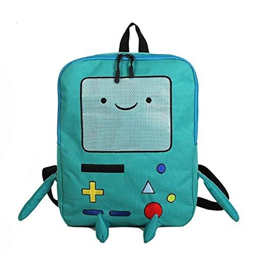 BLO Adventure Time Rucksack, lustige Persönlichkeit, Stereo-Tasche, große Kapazität, Reisetasche blau
