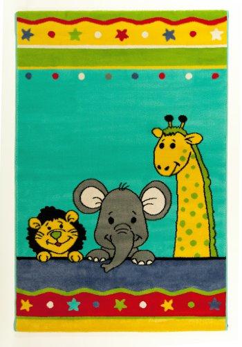 Alta qualità Tappeti da Gioco di alta qualità per bambini tappeto/tappeto per bambini con motivo animali/Tappeto per bambini con motivo zoo/Tappeto per bambini elefante/Tappeto per bambini con motivo leone/Tappeto per bambini con Giraffe/pino modello kinderwebte ppich misura circa 80x 150cm/Divertente kindertie rtep Pich