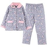 Pijamas Acolchados de Invierno cálido de Tres Capas para Mujer, Pijamas de chándal de Talla Grande con...