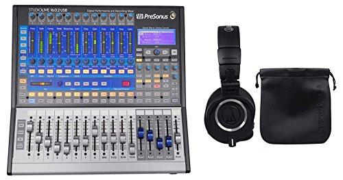 Learn More About PRESONUS Studiolive SL-1602 USB 16.0.2 Digital Mixer+Audio Technica Headphones
