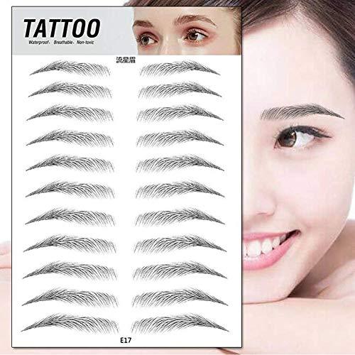 Faux Sourcil, Sourcils Authentiques Comme Des Cheveux 4D Dégâts Durables Gratuits Faux Sourcils Outil Cosmétique De Maquillage