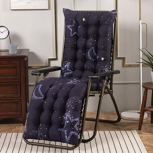 XCTLZG Cojín de respaldo alto de 8 cm de grosor, cómodos cojines para tumbonas, cojines para tumbonas con correa antideslizante, almohadillas suaves para tumbonas para jardín al aire libre