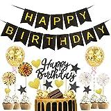 Decorazione per Torta, Topper Torta Compleanno Nero, Cake Topper, Decorazioni Torta Comple...