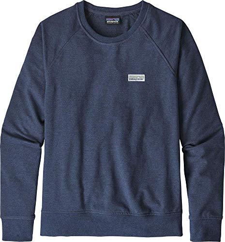 Patagonia W's Pastel P-6 Label Ahnya Crew Sweatshirt für Damen M Blau (Stone Blue)