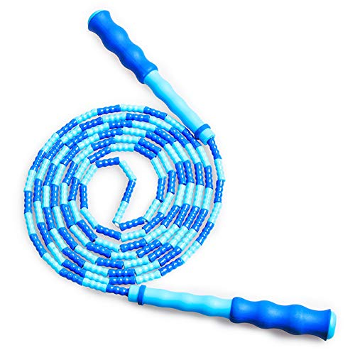 Jump Rope - Soft Beaded Segment Skipping Rope - Adjustable for Men, Women and Kids Tangle-Free Jumping Rope for Workout, Exercise, Keeping Fit, Training and Weight Loss
