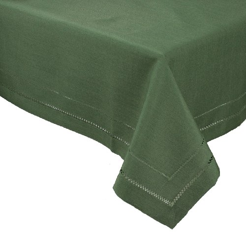 Xia Home Fashions Double Hemstitch Easy Care Tablecloth, 60 by 84-Inch, Pine
