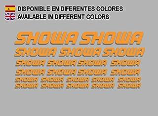 Ecoshirt 0L-XTGI-SDN0 Pegatinas Showa F205 Stickers Aufkleber Decals Moto GP Bike, Naranja