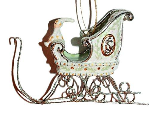 Krinkles Schlitten weiß Gold Silber Moonbeam Rentiere Weihnachtswichtel Wichtel Dash Away Limited Edition Patience Brewster