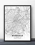 NBHHDH Leinwand Bild,Nordic Frankreich Bordeaux Drucken