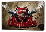 Arsenal Fußball Gunners Foto Bild auf gerahmter Leinwand, Wandkunst, Home Office Dekoration, 24'' x 20''inch(60x 50 cm) - 38mm depth