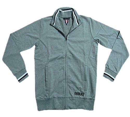 Everlast Herren Full Zip Jacke 22M200F05 Jersey Grey (Grey Melange),S