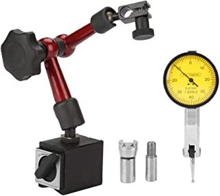 Flexible Strong Magnetic Stand Base Holder with Lever Dial Test Indicator Gauge Precision Scale and Installation Accessories