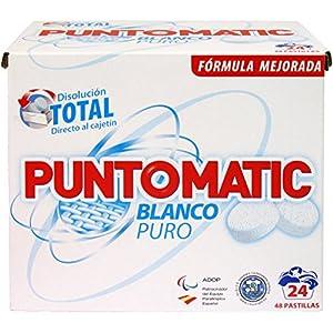 Puntomatic Detergente en Pastilla Ropa Blanca, 24 Lavados – 1488 gr