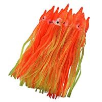 wild.life Luminous Hoochie Octopus Skirts Trolling Lures Soft Plastic Lures Fishing Squid Skirts Saltwater/Bait Lures Color Length Optional (Orange?Non-Luminous, 1.9in/22pack)