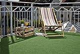 misento Kunstrasen Easy, Rasenteppich mit Drainage-Noppen, Festmaß grün 200 x 400 cm