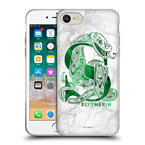 Head Case Designs Ufficiale Harry Potter Slytherin Aguamenti Deathly Hallows IX Cover in Morbido Gel Compatibile con Apple iPhone 7 / iPhone 8 / iPhone SE 2020
