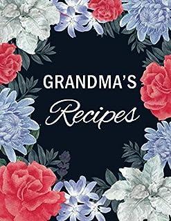 "Grandma's Recipes: Blank Recipe Book to Write In with Tabs 8.5"" x 11""   Family Cookbook Recipe Organizer Keepsake   Gift f..."