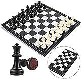 Ajedrez magnético, Juego de ajedrez de Rompecabezas, Plegable y fácil de Llevar, Ideal para niños y Adultos, Juegos al Aire Libre o Regalos