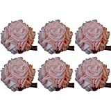 idyllic 5 Inches Kissing Flower Foam Ball Romantic Rose Pomander Pink for Wedding Centerpieces Decorations Soft Touch 6 Pack