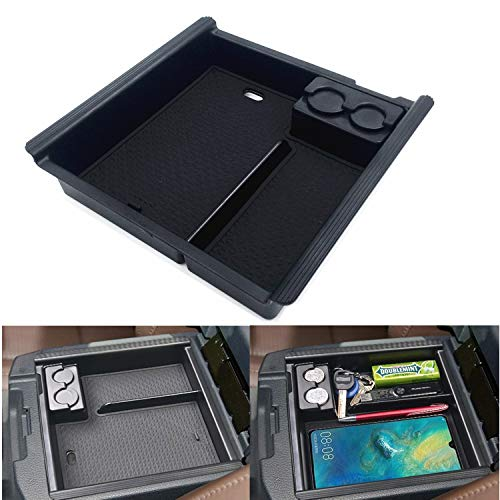 JOJOMARK for Toyota Tacoma Accessories Center Console Tray Organizer Armrest Box Secondary Storage Fit 2021 2020 2019 2018 2017 2016 Tacoma