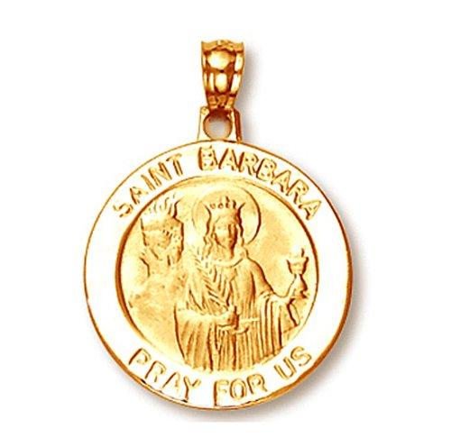 Kleine Schätze - 14 Karat Gelbgold Heilige Barbara Anhänger