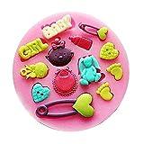 Lovelegis Molde de Silicona para niña - niña - Broche - Conejo - botón -...