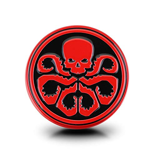 Tehui Personalisierte Auto Hydra Avengers Red Skull-Logo Auto Aufkleber Auto Aufkleber Decken die Nase und Schwanz-Logo (Color : Rot)