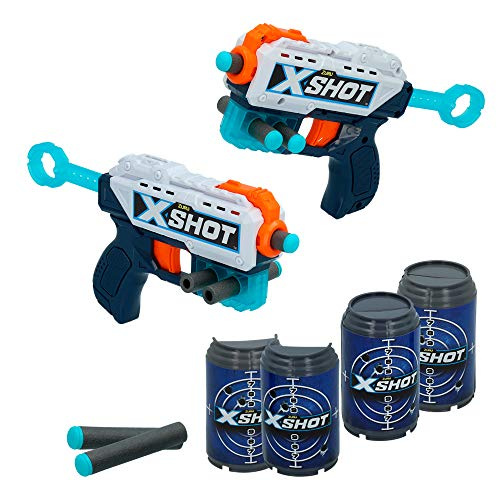 nerf piccoli x-shot- Pistole Giocattolo 2X Kickback