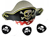 GiftExpress Pirate Hats and Pirate Eye Patches 1 Dozen/Pirate Costume/Pirate Party Supplies