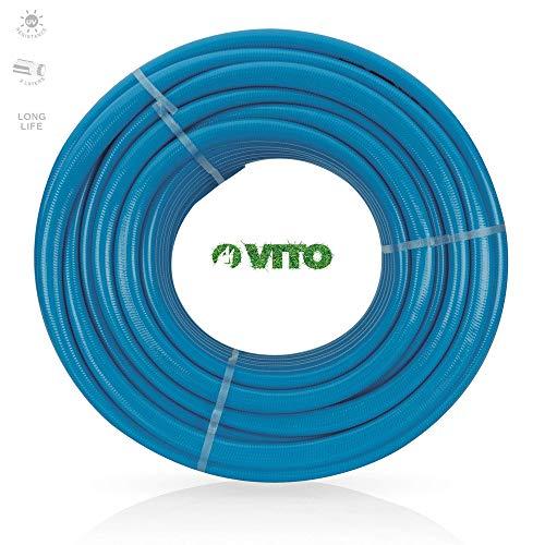 VITO Garden - 50 m PVC verstärkter Flexibel Gartenschlauch LongLIFE 25 mm | 1