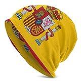 Gorro de invierno con la bandera de España, elástico, suave y duradero