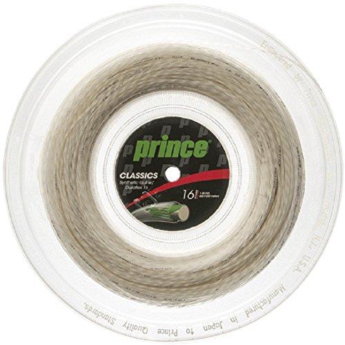 Prince Synthetic Gut mit Duraflex 16G Tennisseil, Weiß, 7J502010080, 46, Weiß
