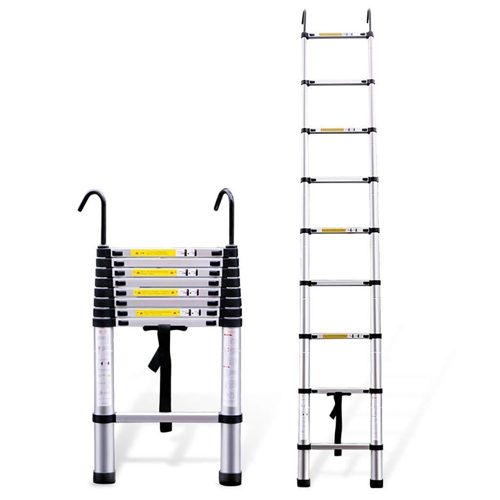 WYNZYYX Escalera Telescópica Escalera De Aluminio Escaleras Elevadoras Multifunción Escalera De Ingeniería Espesar Escaleras Plegables Escalera De Extensión For El Hogar (Size : 2m): Amazon.es: Hogar
