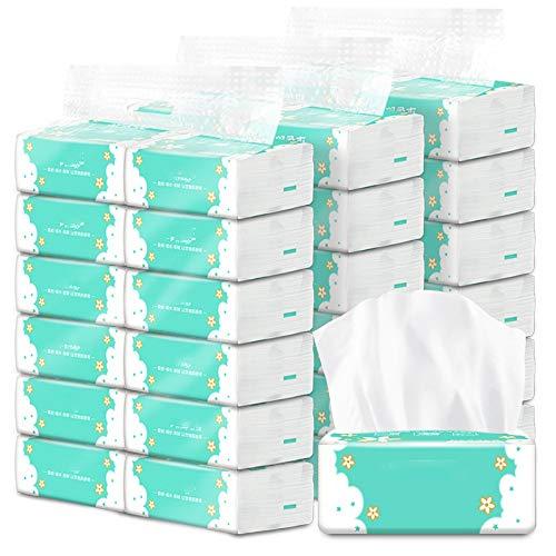 JANRON Papel Higiénico Papel De Cocina De Baño Toallas de Papel de Madera Papel higiénico doméstico servilletas de Papel tisú Suave 36 Paquetes 3 Capas - 12x9X5cm