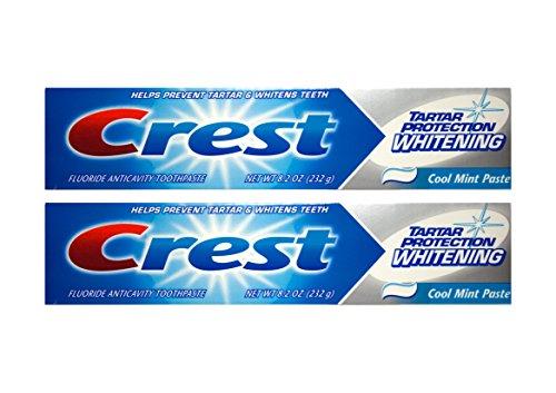 2x CREST Tartar Protection Whitening Cool Mint Paste bleichende Zahnpasta 232g