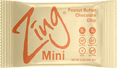 Zing Plant-Based Protein Bar Minis   Peanut Butter Chocolate Chip, 18 Count   100 Calorie Cookie Dough   5g Protein and 3g...