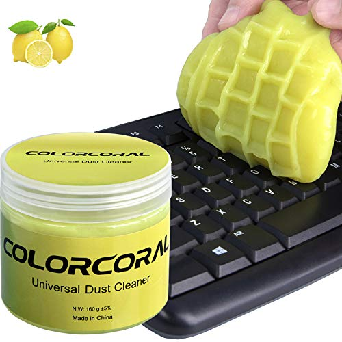 Cleaning Gel Universal Dust Cleaner for PC Keyboard Cleaning Car Detailing Laptop Dusting Home and Office Electronics Cleaning Kit Computer Dust Remover from ColorCoral 160G