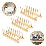 3pcs Bamboo Tray Rack