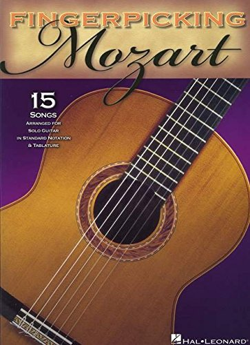Fingerpicking Mozart -For Guitar- (Book): Lehrmaterial, Sammelband für Gitarre