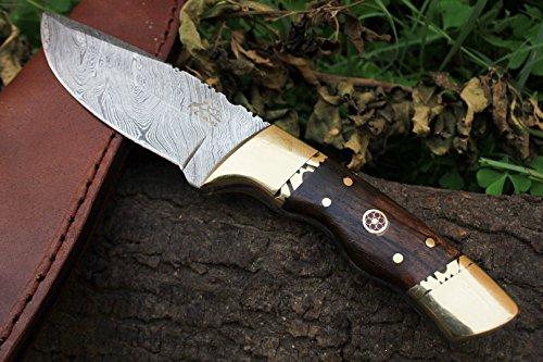"15 4/4/18 Sale DKC-523 Gold Finch Damascus Hunting Handmade Knife Fixed Blade 9oz oz 8""Long 3.75"" Blade"
