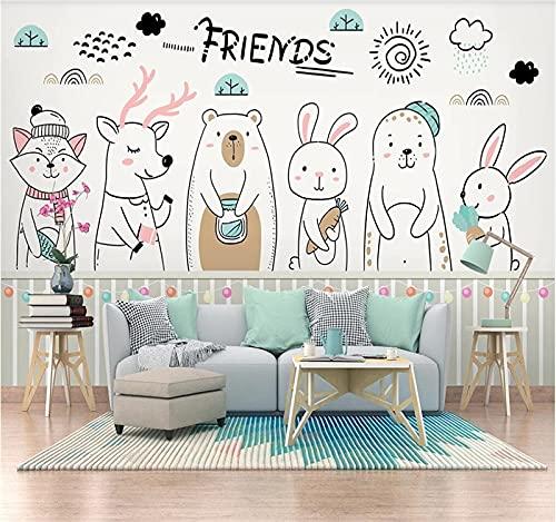 Papel pintado mural personalizado 5d-8d en todo el revestimiento de paredes personalizado de alta gama de la casa-(102.3×68.9inch)