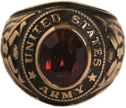 Mil-Tec US Traditionsring Siegelring mit Geschenketui Army Navy Ring (Army/22)