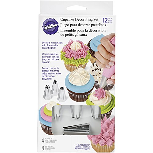 Wilton Decorating Piping Icing Tips Set for Cupcakes, 12 Piece S