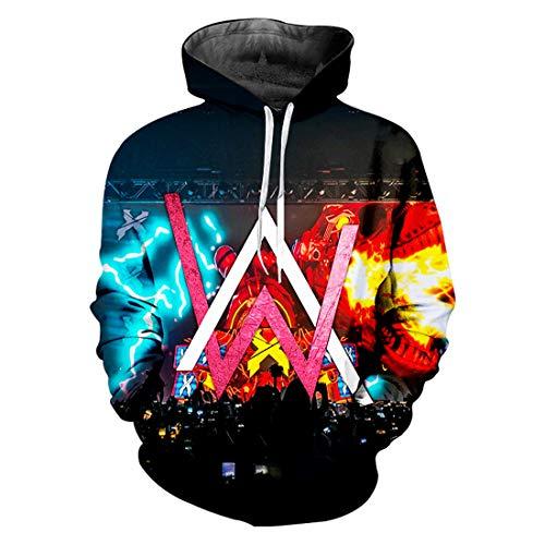 cshsb Alan Walker Jungen Mädchen Hoodies 3D Cool Hoody Kapuzenpullover Funny Pullover Langarm Sweatshirts,A,4XL-5XL