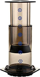 New Filter Glass Espresso Coffee Maker Portable Cafe Press Cafe Coffee Pot For Machine (Color : Brown)